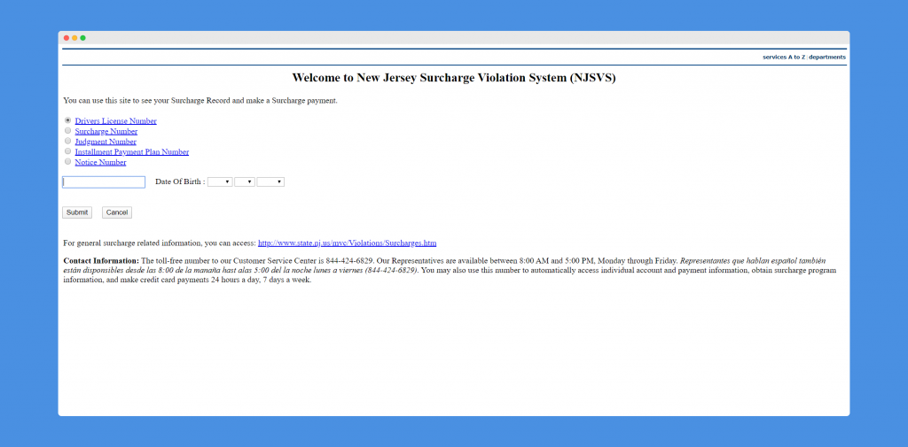 NJSVS Official website